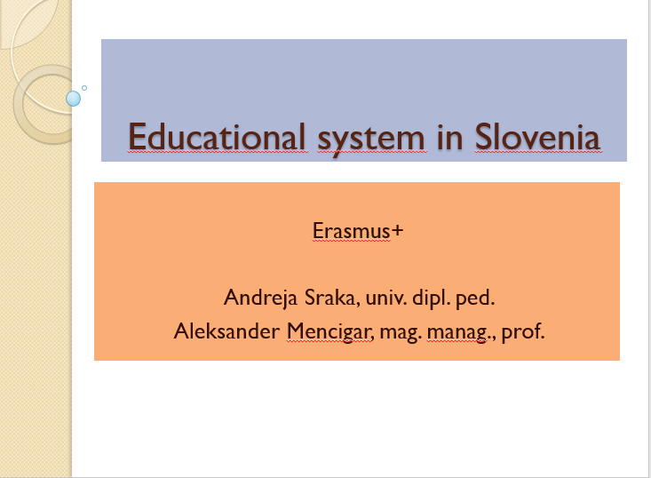 Educational system in Slovenia